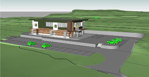 FASTFOOD-PLANER: Slik blir den nye restauranten ifølge tegningene som er sendt inn til kommunen.