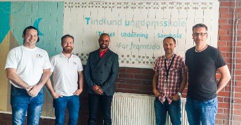 CSlink: Fra venstre er Rino Rostad, David Rostad, Lakhvir Singh, Torger Ulstein og Jo Skjølsvold.