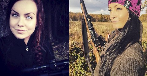 IVRIGE: Marte Stangeland (til venstre) og Maria Ellefsen har jaktet i mange år, og elgjakta må de ha med seg hvert år.  alle foto: private bilder fra årets jakt
