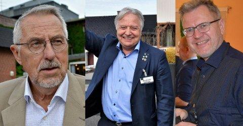 ORDFØRERE: Petter Schou, Olav Breivik og Erik Unaas vil alle bli ordfører i Indre Østfold. Torsdag bestemmer Høyre seg for hvem som får sjansen.