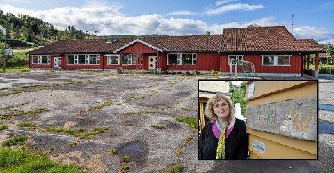 VIL KJØPE: Kattekleiv-eier Inger Lise Wølner (innfelt) ønsker å kjøpe Yli skole for å bygge barnehage her.