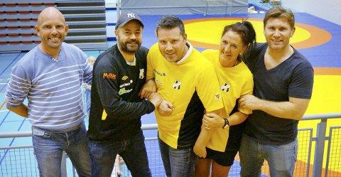 BRAATT-LEDERE: Espen Stenseth (fra venstre), Robert Sylthe, Kjartan Jenssen, Hilde Engdahl og Eren Gjægtvik gleder seg til å arrangere NM i Braatthallen.