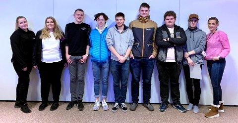 Disse deltok på lærlingekveld på Grand hotell i Kristiansund. Foto: LO