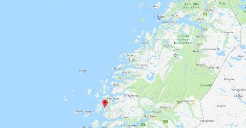 Øya Aldra i Lurøy kommune.