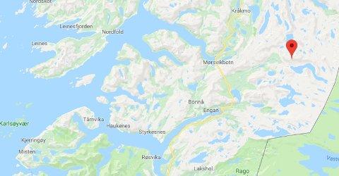 SOS-signalet kom fra Gjerdalen. Sea kingen lettet fra Bodø rundt 18.15.