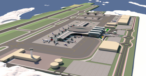 INGEN PENGER: Det blir ikke bevilget penger til ny flyplass-prosjektet i statsbudsjettet for neste år.