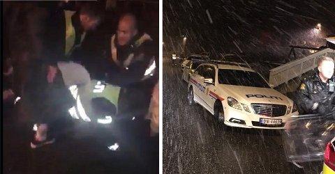 Syv ungdommer ble pågrepet av politiet etter at en fest gikk av hengslene. En mann (20) er tiltalt for snøballkasting og biting.