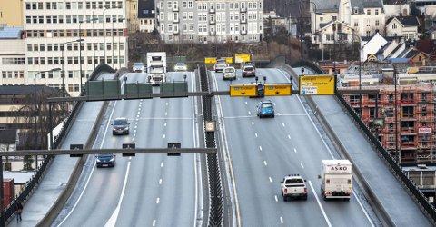 I dag er det stort sett berre dei bilistane som ikkje kjører gjennom ytre bompengering først som betaler rushtidsavgift.