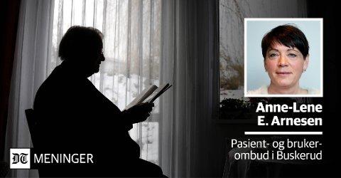 Pasientombudet i Buskerud, Anne-Lene E. Arnesen, skriver fra i dag av fast Drammens Tidende. Den siste tirsdagen i hver måned finner du Arnesens råd og erfaringer i DT.