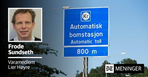 TAR TIL MOTMÆLE PÅ VEGNE AV LIER HØYRE: «Å si nei til byvekstavtalen og Buskerudbypakke 2 vil ikke tvinge staten til noe som helst og det vil kun bidra til at trafikkutfordringene eskalerer», skriver Forde Sundseth i Lier Høyre.