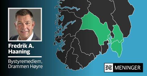 SAMMEN FOR DRAMMEN: «Hvis vi ikke følger med kan enda flere arbeidsplasser forsvinne fra Drammen fordi vi sitter passive», advarer Drammen Høyres Fredrik A. Haaning.
