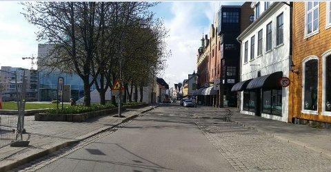 STENGER IGJEN: Storgata blir stengt for gjennomkjøring 10.- 12.mai.