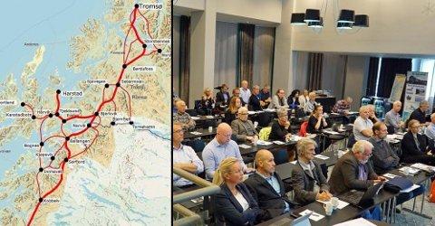 IKKE PÅ SKINNER: Landsdelen fremstår ikke som samlet om Nord-Norgebanen, og gir en lissepasning til Oslo-makten som ønsker å legge saken i en skuff, skriver politisk redaktør Skjalg Fjellheim. Bildet er fra en konferanse i Narvik tirsdag denne uken.