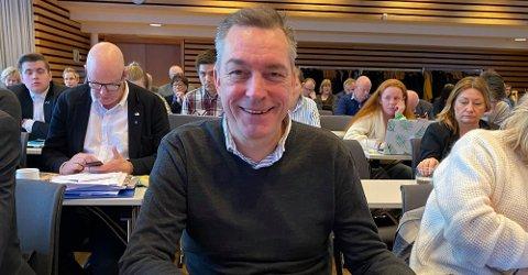 RALJERER OVER OSLO: Statsråd Frank Bakke-Jensen på årsmøtet i Troms og Finnmark Høyre i Tromsø denne helga.