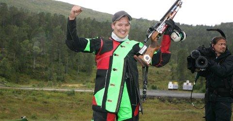 TO PÅ TRE: Thomas Høgåsseter vant sin andre Stang-finale på tre år under Landsskytterstevnet i Førde.
