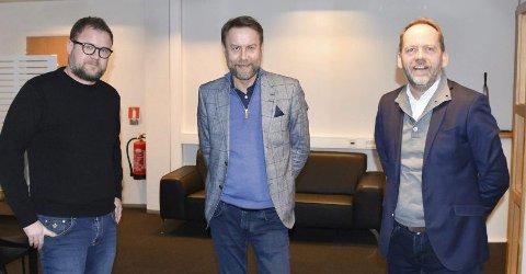 SATSER I RINGSAKER: Brødrene Haakonsen får også Ringsaker som satsingsområde. F.v: Truls Haakonsen, Tom Haakonsen og Leif Atle Viken.