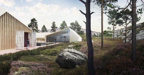MODULBYGG: Sveio har i lang tid foreslått nytt fengsel på Ekrene. Planene og tegningene er utarbeidet av Asplan Viak sammen med Sveio kommune. TEGNINGER: ASPLAN VIAK