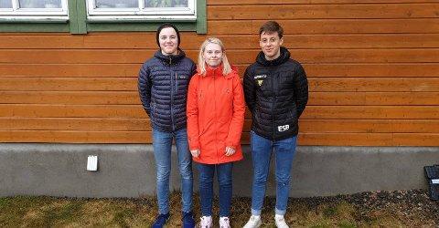 FINALEKLAR: Vadsø-elevene med Vebjørn, Andrea og Emil.