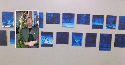 GØY Å STÅ PÅ SIDELINJEN: For Kåre Solheim er det gøy å kunne være en del av Kunstforeningens barnekunstskole. Spesielt når de har utstillinger der barnas kunst vises frem.