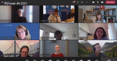 DIGITALT: Styremøtet i Helse Nord ble som tidligere gjennomført digitalt grunnet pandemien.