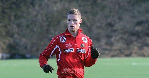 Krister Wemberg trente med Bryne for første gang onsdag ettermiddag.
