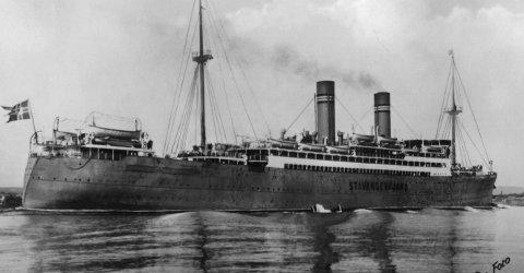 Stavangerfjord: Det var med «Stavangerfjord» onkel Tellef emigrerte til Amerika. Kanskje var det denne båten julepakkene kom med?