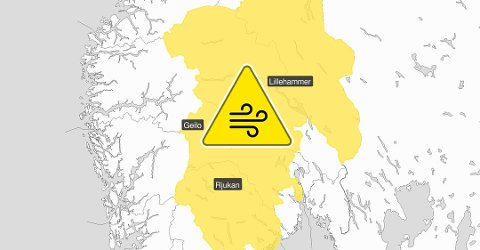 VIND: Gult farenivå for kraftig vind denne helgen.