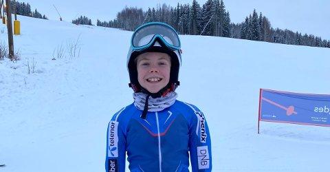 PÅ PALLEN: Leah Neumann kjørte fort i Hallingdal i helga. FOTO: PRIVAT