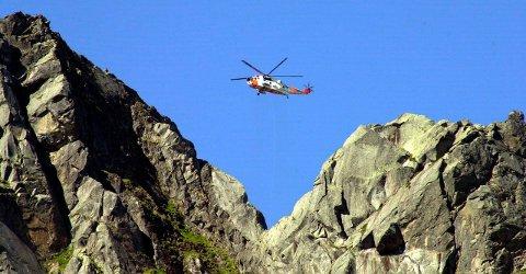 HRS har gjorde mange oppdrag i fjellene i Lofoten også i fjor.