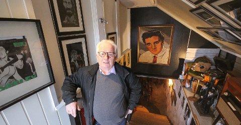 Stenger Elvis-kjelleren: Kjell A. Dahlmann kaster ut Elvis fra Rockhouse. Nå håper han å få fram mosserockens historie.