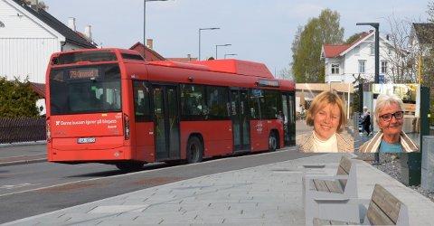 PÅVIRKER REISENDE: 79-bussen kjører ikke lenger i Ekebergveien. Busstreiken påvirker flere reisende.