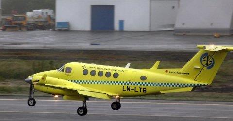 PÅ BAKKEN: Seks av flyene står på bakken i kveld. Kun Bodø-flyet er operativt. Foto: Luftambulansetjenesten HF
