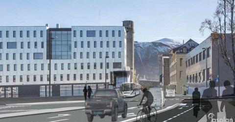 NY HOVEDVEI: Stakkevollvegen er planlagt med fire felt, men kommunen har foreløpig ikke penger nok til prosjektet.