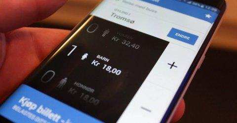 APP-BYTTE: Den gamle appen Troms Mobillett er ikke lenger i bruk den 15. juni. Erstatningen får nå kritikk. Illustrasjonsfoto: Kai Jæger Kristoffersen