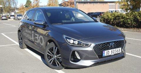 GRRR: Er ikke dette tøft da? Aggressiv front på nye Hyundai i30. FOTO: ØYVIN SØRAA