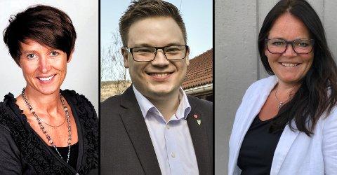 Aud Hove (Sp), Even Aleksander Hagen (Ap), Kari-Anne Jønnes (H).