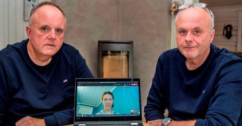 GJENNOMSLAG: Tor (t.v.) og Lasse Røberg konstaterer sammen med Marit Alver-Jacobsen hos pasientombudet at Hovli-tilsynet har gitt de pårørende fullt gjennomslag.