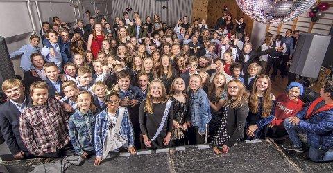 SKI: Syvendeklassingene som sogner til Ski ungdomsskole.