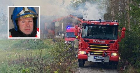 RØYKDYKKERE: Robert Fonnås ledet røykdykkerteamet som fant den døde kvinnen i boligbrannen i Rendalen.