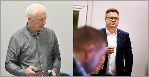 INGEN NÅDE: Hamar-ordfører Einar Busterud (t.v.) har lite til overs for vedtaket fra fylkestinget, ledet av fylkesordfører Even Aleksander Hagen.