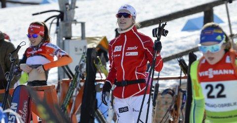 Nesten klar: Mye skal skje for at ikke Emilie Ågheim Kalkenberg, Skonseng UL, får delta i sitt andre junior-VM i skiskyting. Hun har vært blant de beste juniorene i Norge denne sesongen. Foto: Gøran O. Pedersen