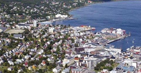 NØKKELROLLE: Harstad blir den nest største byen i den nye regionen. Harstad er universitetsby og er blant annet hovedsete Equinor og utviklingen av olje og gassnæringen i landsdelen.