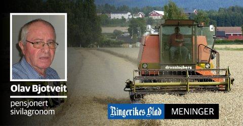 LOKALT ANSVAR: – Det er kommunene som har hovedansvaret for å ta vare på jordressursene ved sin forvaltning etter plan- og bygningsloven og jordloven, skriver Olav Bjotveit.