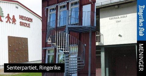 NEDLAGTE SKOLER: - Høyre har stått i spissen for flere nedleggelser, skriver Senterpartiets kommunestyrerepresentanter i Ringerike.