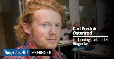 UHELDIG: – Utdanningsforbundet mener det gir svært uheldige signaler med en nedjustering av budsjettet, skriver Carl Fredrik Østenrød.