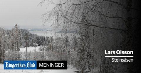 PÅ ISEN: – Dersom du på død og liv må utpå isen, ta med ispigger og noe som kan holde deg flytende oppfordrer Lars Olsson.