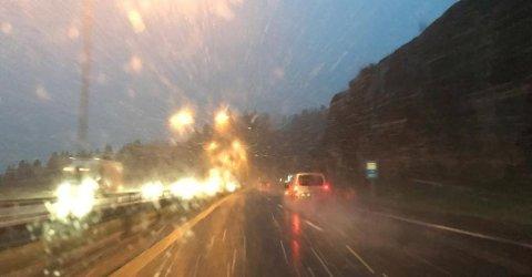 SLUDD: Dette blir nok «værdagen» til de som bor nær kysten, mens de som holder til lenger inn i Vestfold vil få mer vinterlige forhold.