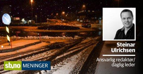 Det er snø. Litt snø. Men likevel er det grunn til å advare, for folk kjører uten vinterdekk.