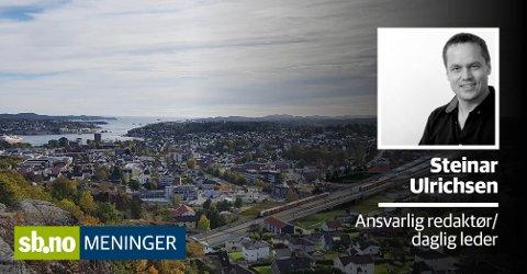 TUNNEL: Gjennom tunnel i Mokollen kommer dobbeltsporet ut nær der Lundenhjemmet ligger i dag. Ny stasjon kommer rett vest for Sandefjordsveien, med 350 meter lange perronger.