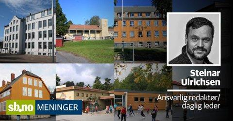 Sandefjord kommune trenger mange penger for å ruste opp skolene, men hvor skal pengene komme fra når vi tjener langt mindre enn landsgjennomsnittet?
